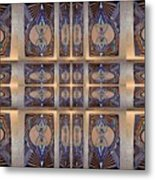 Stained Glass And Brass Metal Print by Ricky Kendall