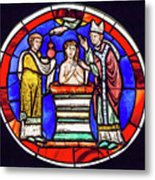 Stained Glass - Baptism - Musee De Cluny Metal Print