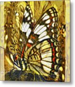Stained Glass Butterfly Metal Print