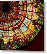 Stained Glass Ceiling Metal Print