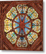 Stained Glass Ceiling Window Metal Print