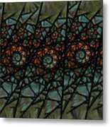 Stained Glass Floral I Metal Print