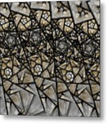 Stained Glass Floral IIi Metal Print