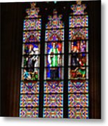 Stained Glass Glory Of St Patricks Metal Print