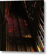 Stained Glass Impression Notre Dame Paris Metal Print