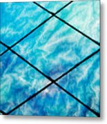 Stained Glass In Blues Metal Print