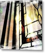 Stained Glass Metal Print