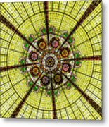 Stained Glass Kaleidoscope Metal Print