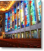 Stained Glass Of St Josephs, Hartford Metal Print