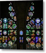 Stained Glass Our Lady Of The Rosary Cathedral Manizales Colombia Metal Print