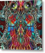Stained Glass Owl  Metal Print