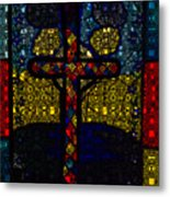 Stained Glass Reworked Metal Print