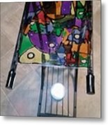 Stained Glass Sofa Table Metal Print