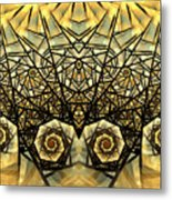 Stained Glass Summer Metal Print