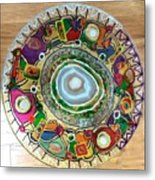 Stained Glass Table Top Metal Print