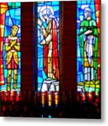 Stained Glass Triptych Metal Print