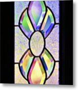 Stained Glass Watercolor Metal Print