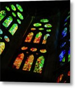 Stained Glass Windows -  Metal Print