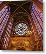 Windows Of Saint Chapelle Metal Print