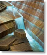 Staircase Fountain Metal Print