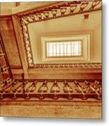 Staircase In Brown Metal Print