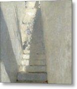 Staircase In Capri Metal Print