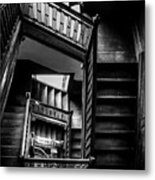 Staircase In Swannanoa Mansion Metal Print