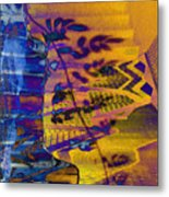 Staircase Of Light And Shadow Metal Print