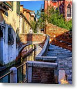 Staircase To Bridge In Venice_dsc1642_03012017 Metal Print