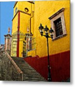 Staircase With Gate Metal Print