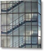 Stairs Behind Glass Metal Print