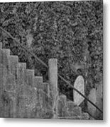 Stairs In Black And White Metal Print