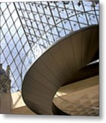 Stairs In Louvre Museum. Paris.  Metal Print