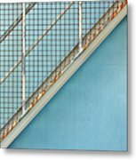 Stairs On Blue Wall Metal Print