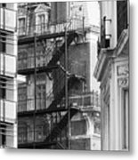 Stairs Outside Building Metal Print