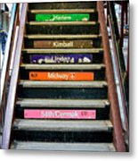 Stairs To The Chicago L Metal Print