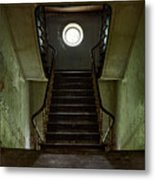 Stairs Toward The Attic - Abandoned House Metal Print