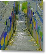 Stairs With Painted Rocks Metal Print