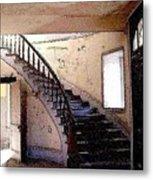 Stairway -  Meade Hotel - Bannack Mt Metal Print