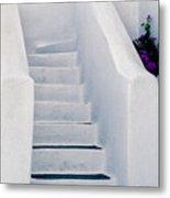 Stairway In Mykonos Metal Print