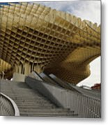 Stairway Leading Up To Metropol Parasol In The Plaza Of The Inca Metal Print