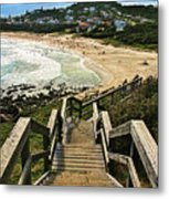 Stairway To Beach Metal Print