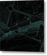 Stairway To-blue Metal Print