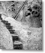 Stairways To The Kiva Metal Print