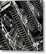 Stairwell Hell Metal Print