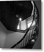 Stairwell To The Studio Crow's Nest Metal Print