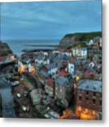 Staithes Evening Metal Print