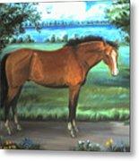 Stallion Portrait Metal Print