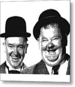 Stan And Ollie - Parallel Hatching Metal Print