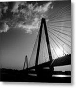 Stan Musial Bridge St Louis Mo Black And White_dsc4591_16_65 Metal Print